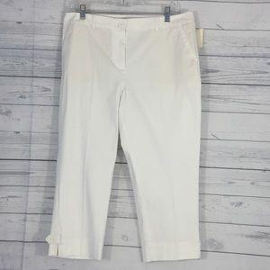 Talbots Women's Pants Crop 12 Petite White New Ctn